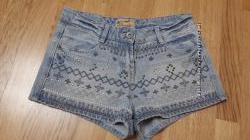 Джинсовые шорты с вышивкой Denim Сo Premium