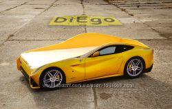 Кровать-машина Ferrari желтая