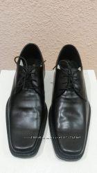 новые мужские туфли кожаные черные на шнурках