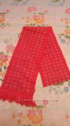 Новый шарф розовый ажюрный в наличии 3 шт.