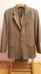 Костюм мужской серый тройка, пиджак