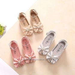 Туфли для девочки В наличии 26, Золотистые