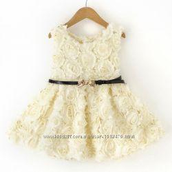 Платье для девочки. В наличии белое