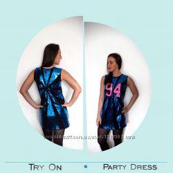 Неперевершена сукня з паєток