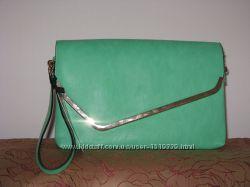 Клатч бирюзово-зеленый новый