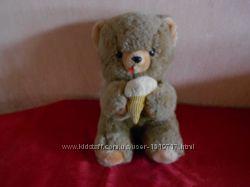 Винтажный медведь, мишка, с мороженым. Производство 1970-1980 г, редкий