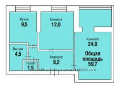 Продажа 2-х комнатных квартир с индивидуальным отоплением,  г. Николаев