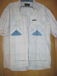 Рубашка с джинсовыми вставками 50 р.