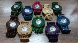 Часы женские браслет WOOD