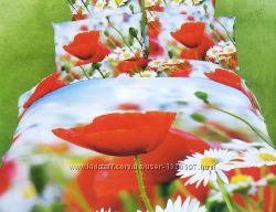 Постельное белье cатин фотопринт 3D La Scala ABC-290 евро 200x220