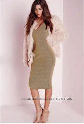 Золотое платье missguided asos