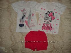 Комплект, костюм футболка-шорты р-р 32, 34 98, 104, 110, 116