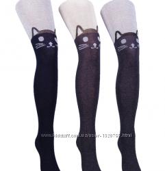 Новинка модные колготки с мордочкой кошки 150-152 и другие модели 104-152