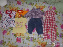 Пакет одежды на девочку 74-80 см
