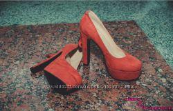 Персиковые туфли