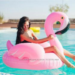 Надувной Фламинго. Для пляжа, бассейна и вечеринок. Размер 150 см