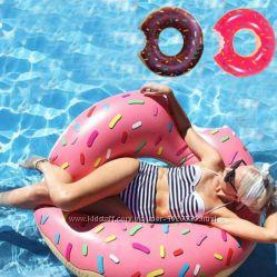 Пончик надувной. Цвета Розовый, Шоколадный. Разные размеры.