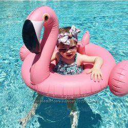 Детский надувной Фламинго. Для пляжа бассейна и вечеринок. Размер 115 см.