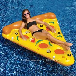 Надувная Пицца. Для пляжа бассейна и вечеринок. Размер 180 см