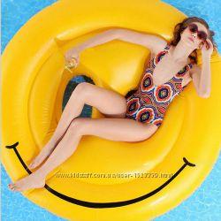 Надувной Смайл. Для пляжа, бассейна и вечеринок. Размер 160 см
