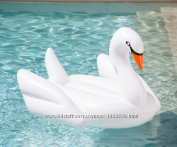 Лебедь надувной. Для пляжа, бассейна и вечеринок. Белый.