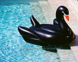 Лебедь надувной. Для пляжа, бассейна и вечеринок. Черный.