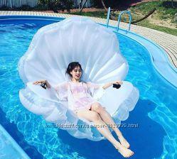Надувная Раковина с жемчужиной. Для пляжа бассейна и вечеринок. Размер 170