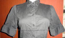 Черная рубашка боди-комбидресс