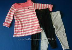 Пакет вещей - Картерс- туника, джинсовый комбез, лосины, джеггинсы