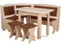 Кухонный уголок Император кухонный стол раскладной, диванчик, 2 табурета