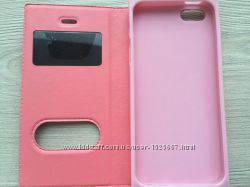 Чехол книжечка синяя розовая белая для Iphone 5 5s на магните в упаковке