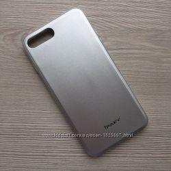 Чехол накладка силиконовая iPAKY для iPhone 7plus 7S plus  Silver