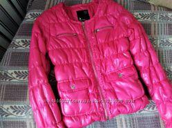 осенняя розовая куртка