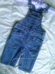 Комбинезон джинсовый 6-9 мес