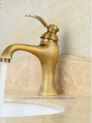 Смеситель для умывальника в ванную бронза однорукий 0043