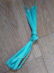 Шнурки 130 см, светящиеся в темноте, бледно-голубые