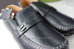 Классические кожаные туфли-мокасины р. 27-32.