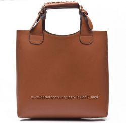 Коричневая сумка Зара