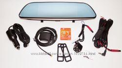 D35 Зеркало регистратор, 7 сенсор, 2 камеры, GPS навигатор, WiFi, 16Gb
