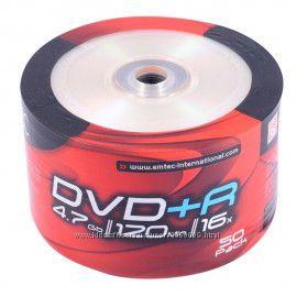 Чистые диски DVD-R Emtec, HP