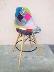 Барный стул Пэрис Вуд Пэчворк Paris Wood Patchwork для кафе, бара, дома