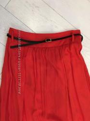 Яркая летняя оранжевая юбка C&A
