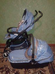 Универсальная коляска Everflo с пластиковой люлькой Бамбук Голубой