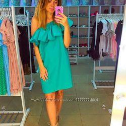 Платье сарафан с воланом