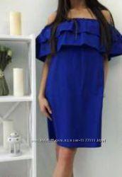 Платье сарафан с двойным воланом