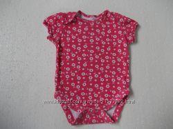 Бодик с коротким рукавом на девочку 6-9 месяцев рост 74 см