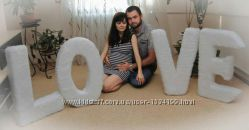 Напрокат меховые буквы Love