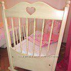 Самая красивая детская кроватка Baby Italia Molly Ivory c матрасом