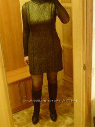 Шикарное Супер Платье сукня Новое черное золот на подкладке р 46, 48, 50