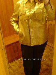 Уникальная Новая Куртка Кожа шкіра, замш натуральная золотая р 48-54